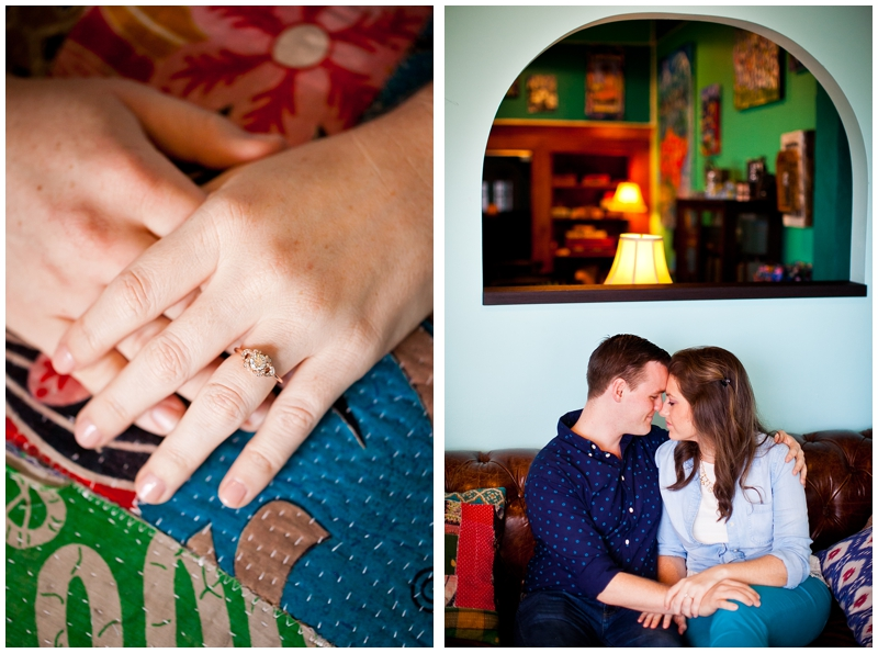 Evernia Coffee Shop, Downtown West Palm Beach Engagement Photography by ChelseaVictoria.com