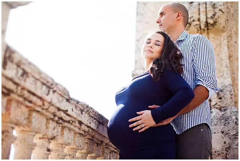 Worth Avenue Clock Tower Palm Beach Florida Maternity Photography by Chelsea Victoria