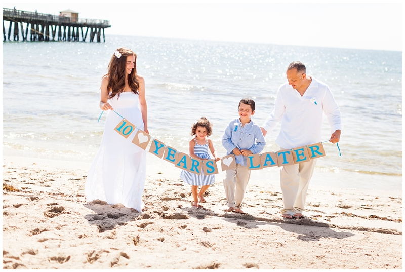 Delray Beach Pier, Florida Family Portraits, 10th Anniversary by ChelseaVictoria.com